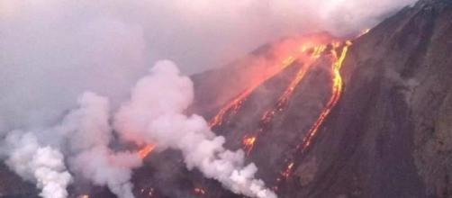 Violenta eruzione dello Stromboli