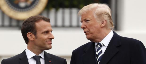 """A Washington, Macron fait état d'une """"avancée"""" sur l'Iran ... - challenges.fr"""