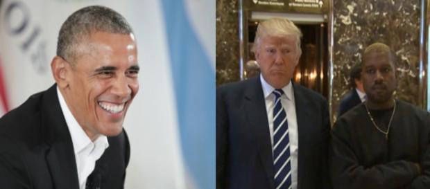 Barack Obama, Trump and Kanye, via Twitter