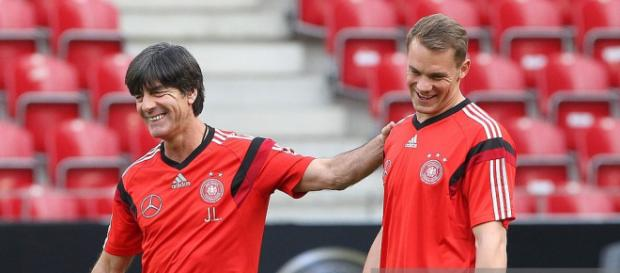 Germany's head coach Joachim Loew (L) and goalkeeper Manuel Neuer ... - gettyimages.com