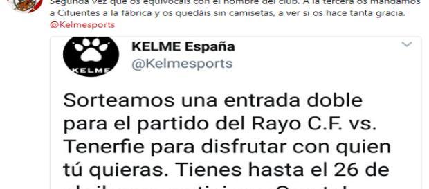 Se lía en Twitter por el nombre mal escrito del Rayo Vallecano