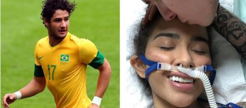 Alexandre Pato se sensibilizou com a luta da youtuber Nara Almeida (Foto: Correio da Bahia)