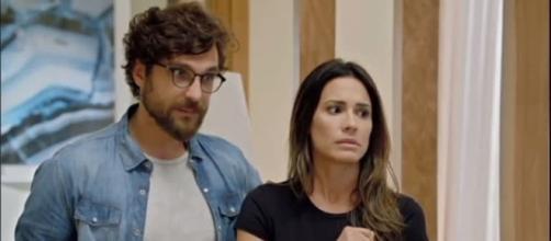 Benjamin e Zoe se preocupam com o futuro do filho em Apocalipse. (Foto: Record TV)