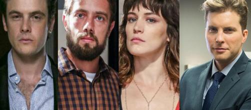 Clara, Gael e Patrick se unem contra Renato em O Outro Lado do Paraíso (Foto: TV Globo)