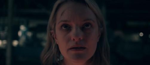 Elisabeth Moss is June Osborn. [image source: YouTube - Hulu]