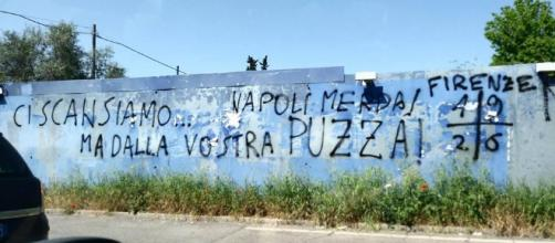 Vergognoso murales a Firenze contro i napoletani