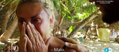 Raquel Mosquera es evacuada de SV 2018.