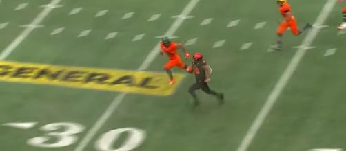 Rashaad Penny at Senior Bowl. - [NFL Highlights History / YouTube screencap]