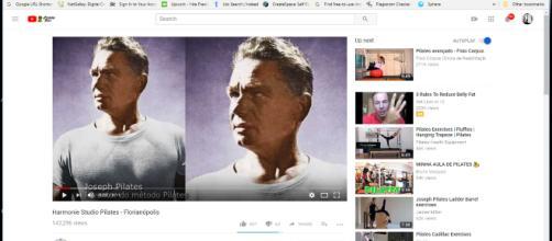 Pilates. - [Upside Down Pilates / YouTube screencap]