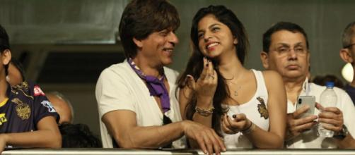 Shah Rukh Khan and Suhana Khan (Image via Hotstar.com)