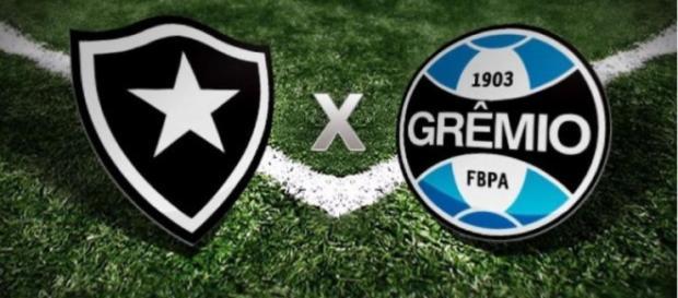 Botafogo x Grêmio ao vivo neste sábado. (foto reprodução).