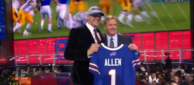 Buffalo Bills draft Josh Allen as their quarterback; (Photo Credit: Campus Insider/YouTube)