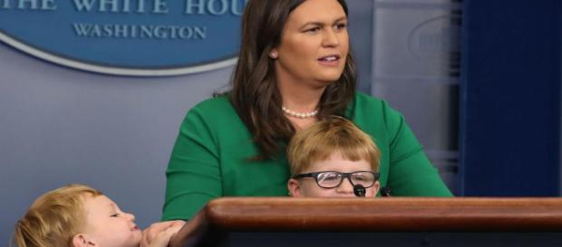 Sarah Huckabee Sanders hosted a press briefing for children and a ... - someecards.com