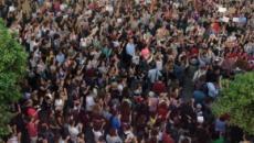 Miles de personas protestan en Pamplona por la sentencia de 'La Manada'