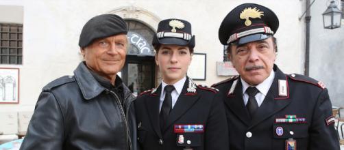 Don Matteo, il Capitano Anna Olivieri e il Maresciallo Cecchini