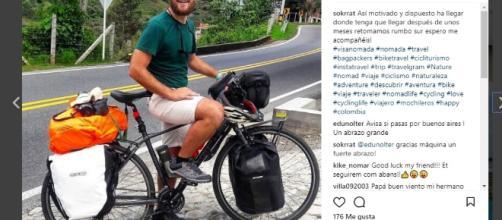 Óscar Fuentes y su viaje al sur en bicicleta, 2da parte