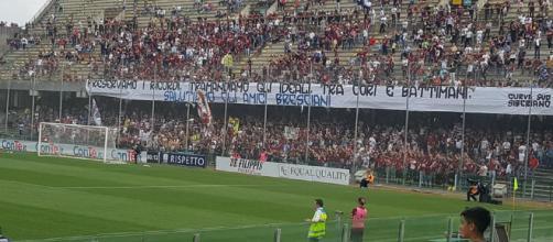 Salernitana-Brescia: rinnovata l'amicizia sugli spalti tra le tifoserie