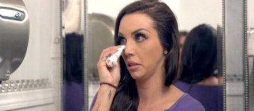 Scheana Marie cries on 'Vanderpump Rules.' [image source: Bravo/YouTube]