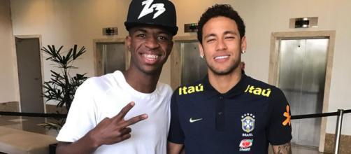 Vinicius Junior ya conoce a Neymar - mundodeportivo.com