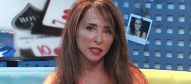 María Patiño con la cara desencajada.