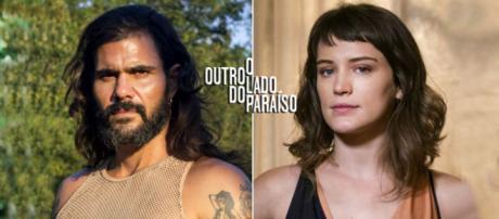 Clara e Mariano se ajudam em 'O Outro Lado do Paraíso' (Reprodução/Web Montagem/Telma Myrbach)