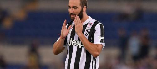 Gonzalo Gerardo Higuaìn, autore del gol vittoria della Juventus.