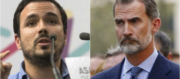 Alberto Garzón y Felipe VI en imagen