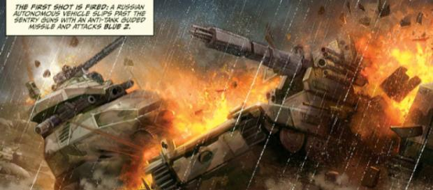 Color de la guerra - Una ilustración de una de las novelas gráficas