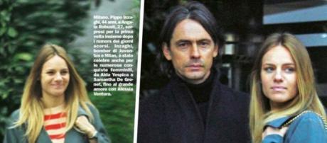 Filippo Inzaghi con l'ex corteggiatrice di Uomini e Donne Angela Robusti