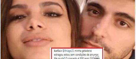 Thiago brincou dizendo que o internauta estava o comparando com Luciano Huck ( Reprodução - Instagram )