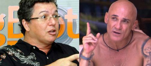 Boninho e Ayrton seriam amigos e estariam em parceria, segundo tuítes antigos. (foto reprodução)