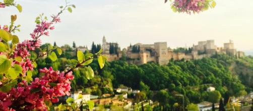Camino al Sacromonte, vistas de la Alhambra