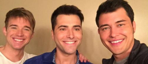 'Days of our Lives' cast members Will, Sonny, and Paul. - [Image via Freddie Smith/Instagram]