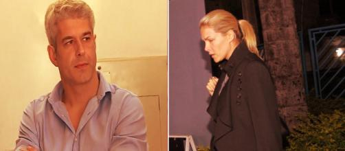 Gustavo Correa e a apresentadora Ana