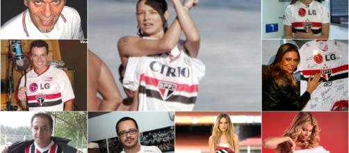 Luana Piovani, Rodrigo Faro e Ellen Roche são tricolores