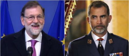 Mariano Rajoy y Felipe VI en imagen de archivo