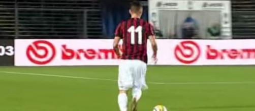 Un giocatore del Milan Primavera in azione