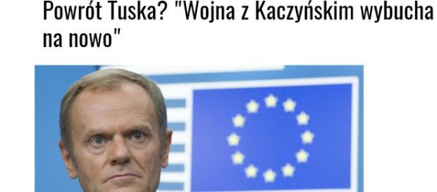 Donald Tusk przymierza się do powrotu do polskiej polityki (scrn).