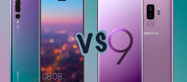 Huawei P20 Pro vs Samsung Galaxy S9.
