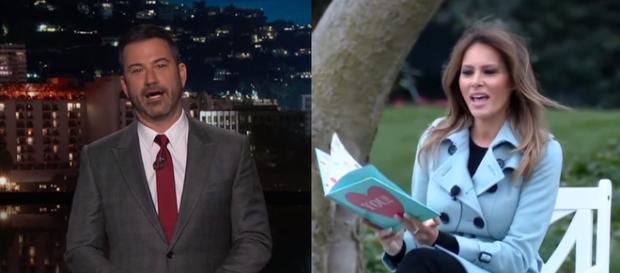 Jimmy Kimmel, Melania Trump, via YouTube