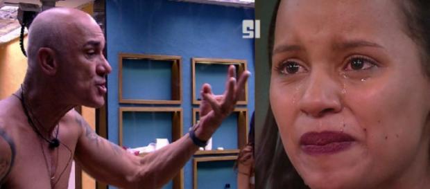Participantes discutiram após Ayrton estar no paredão - Foto: Reprodução/Globo