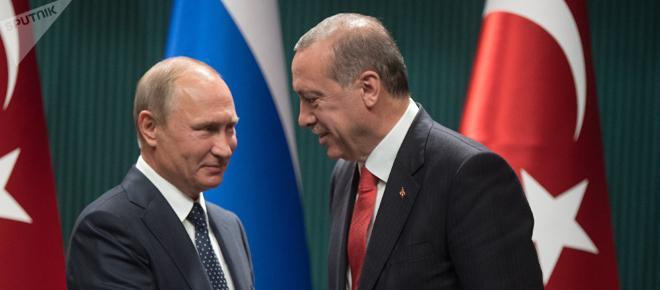 Putin zu Gesprächen mit Erdogan in Ankara