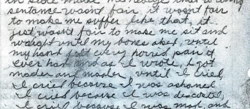 A portion of a letter written by the 'Golden State Killer' (Image via Sacramento Police Department - WikiMedia Commons)