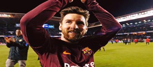Autor de três gols, Messi celebra título espanhol do Barcelona - Foto: Reprodução / Facebook Oficial FC Barcelona