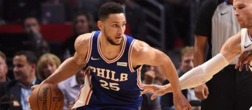 Ben Simmons and the 76ers will try to win Game 1 of their second-round NBA Playoffs series in Boston Monday night. [Image via ESPN/YouTube]