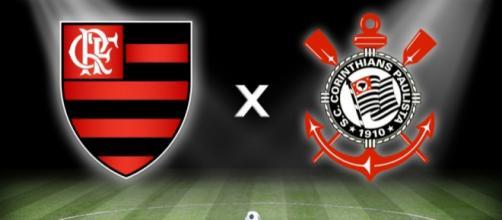 Flamengo x Corinthians ao vivo. (foto reprodução).
