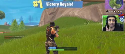 'Fortnite' player Vikkstar snagging that Victory Royale - YouTube/Vikkstar123