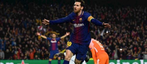 Lionel Messi, autore di una tripletta nella partita di domenica