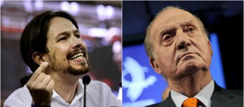 Pablo Iglesias y Juan Carlos I en imagen
