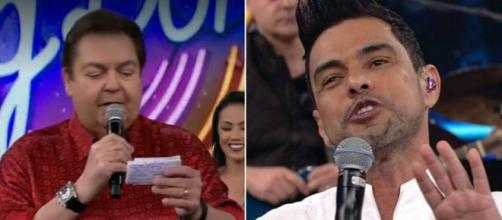 Zezé Di Camargo e Faustão no 'Ding Dong'